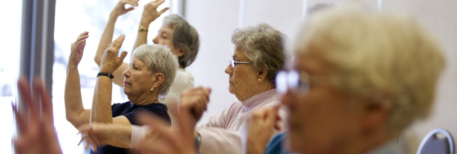 Image of Elderly practicing Tai Chi