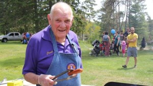 Lyle Cathcart at the Lions Club BBQ