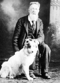 Image of Henry J. Bird with his dog named Bala