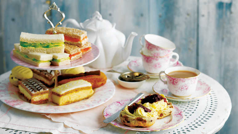 Image of a table with tea sandwiches