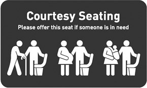 Courtesy Seating Sign