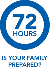 graphic asking if your family is ready for a 72 hour emergency