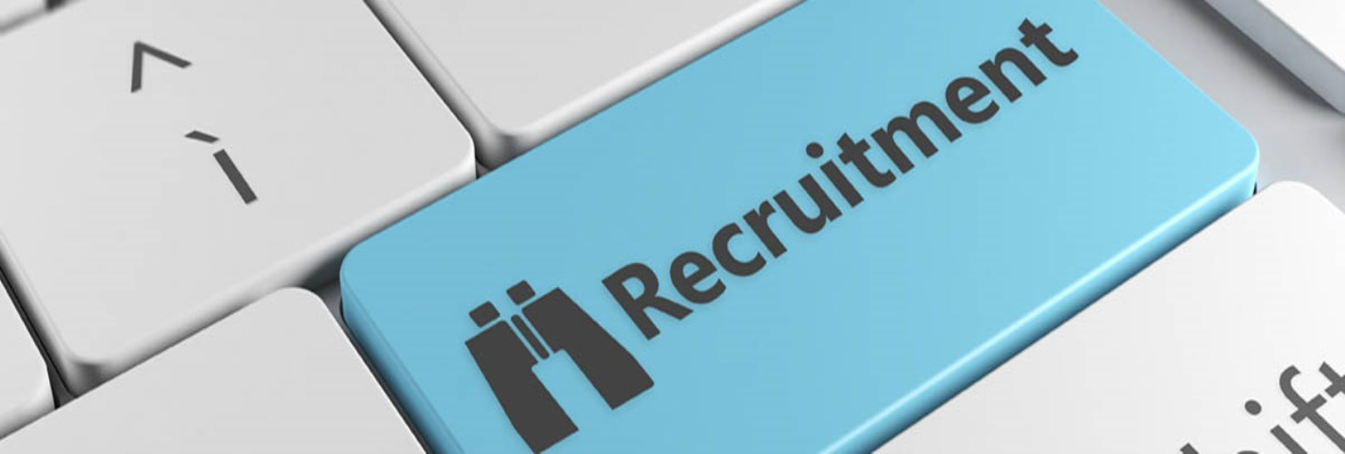 Image of keyboard with key named recruitment