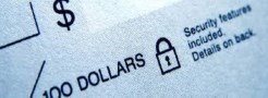Image of partial cheque