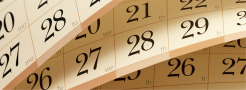 Image of a partial calendar
