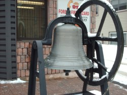 fire bell on a stand